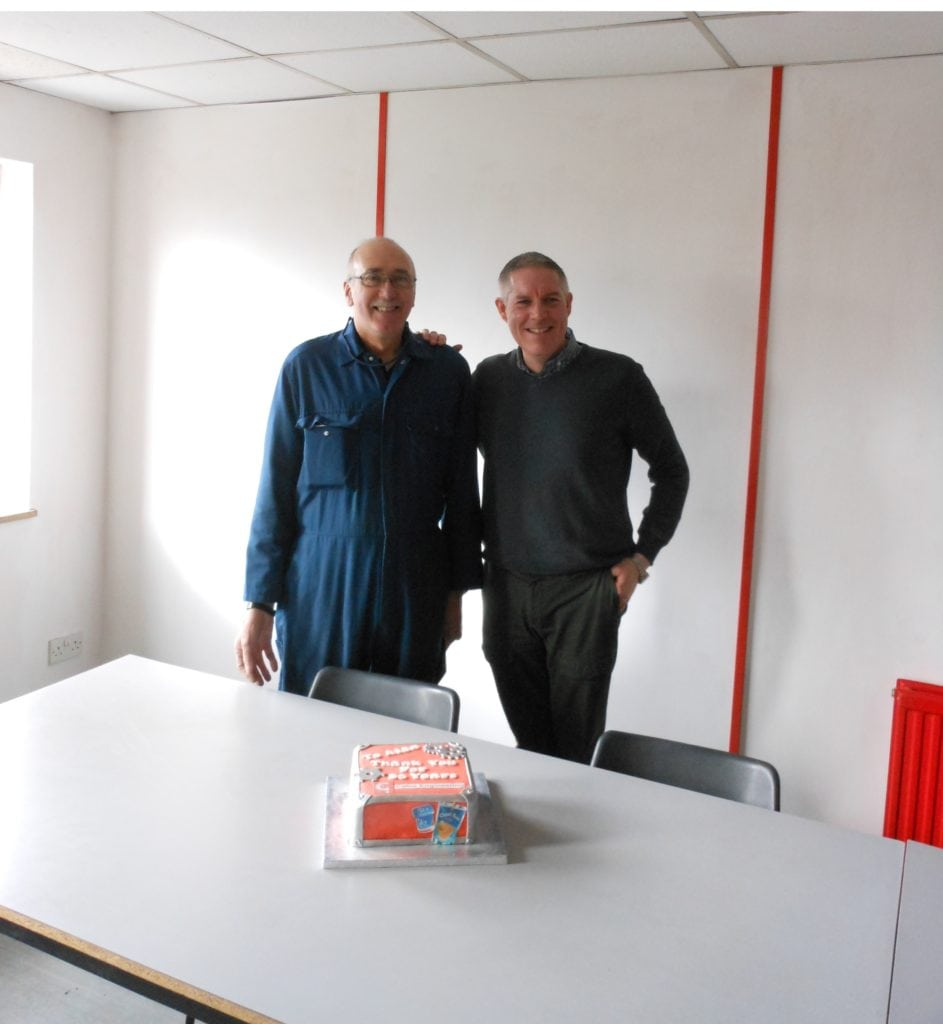 Picture of Alan Gray and Managing Director Mark Board at Calne Engineering